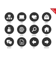 Network icons on white background vector image