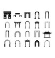 arch icon set simple style vector image