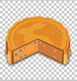 a mooncakes isolated on transparent background vector image vector image