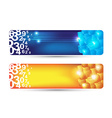 abstract banner with numbers and cubes shape vector image vector image
