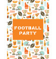 american football party invitation card super bowl vector image