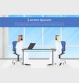 arab business men meeting two muslim businessman vector image vector image