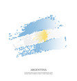 Argentina flag with halftone effect grunge texture