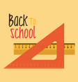 back to school label with rules vector image
