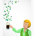 background for st patrick s day vector image