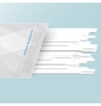 banner background White line vector image