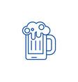 beer line icon concept beer vector image vector image