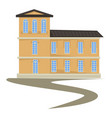 biedermeier style building isolated construction vector image vector image