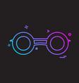 binocular icon design vector image