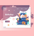 birthday website landing page design vector image vector image
