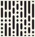 black and white dashed lines pattern modern vector image vector image
