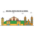 bolivia santa cruz de la sierra outline city vector image