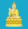 Buddha low polygon style vector image