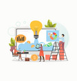 business project startup people investing money vector image vector image
