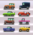 car icon set-9 vector image vector image