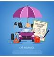 Car Insurance Concept vector image vector image