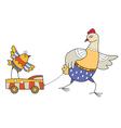 chicken1 vector image