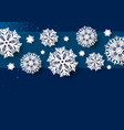 christmas card design of white snowflake vector image vector image