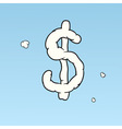 cloud dollar sign vector image vector image