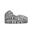 coliseum sketch vector image