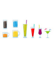 Colorful glass of drink set