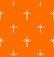 crucifix pattern seamless vector image vector image