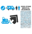 Demolition Icon with 1000 Medical Business Symbols vector image vector image
