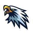 eagle mascot logo sports team mascot design vector image vector image