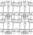 fashionable handbags black and white seamless vector image vector image