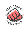 fist strong symbol bodybuilding gym sport vector image