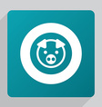 flat pig icon vector image vector image