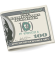 Folding dollars vector image vector image