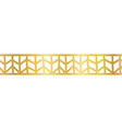 geometric gold foil seamless border golden vector image vector image