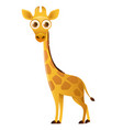 giraffe cute cartoon character vector image vector image