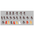 grey cyborg enemy shooter game sprites vector image vector image