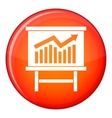 Growing chart presentation icon flat style vector image vector image