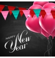 Happy New Year Lettering Chalk Composition vector image vector image
