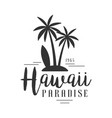 hawaii paradise since 1965 logo template black vector image vector image