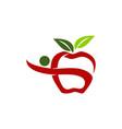 healthy food logo design template vector image