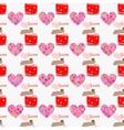 Heart and love potion seamless pattern Valentine vector image
