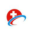 hospital sign cross logo vector image vector image