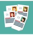human resources recruit hired design isolated vector image