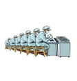 industry electronics manufacturing plant many vector image