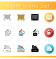 inventory management icons set product barcode vector image