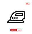 ironing icon vector image vector image