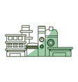 isolated factory building vector image vector image