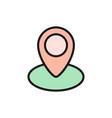 location pin in circle street views map marker vector image vector image