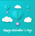 love invitation card valentines day balloon heart vector image vector image
