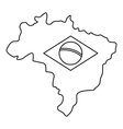 Map of Brasil icon simple style vector image