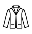 men suit icon on white background vector image